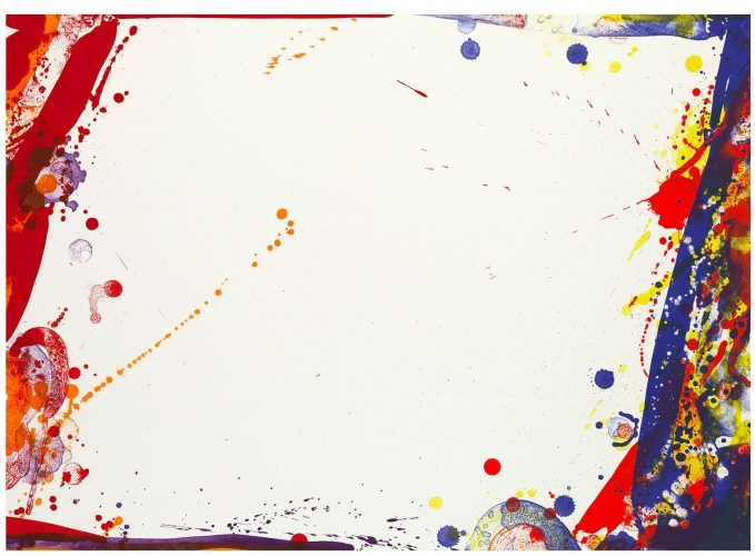 Blue Cut Sail by Sam Francis at Michael Lisi/Contemporary Art