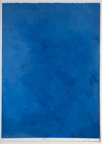 Ocean Blue Drawing #36 by Joe Goode at Leslie Sacks Gallery (IFPDA)