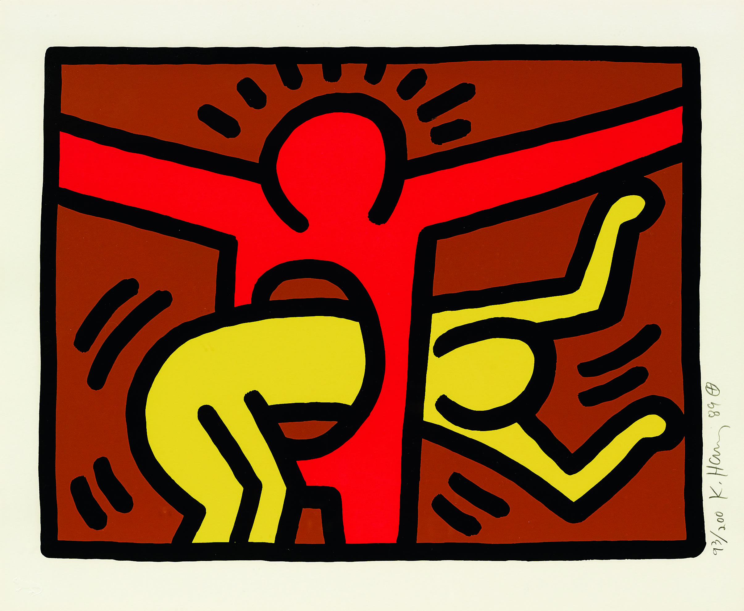 Pop Shop IV (C) by Keith Haring