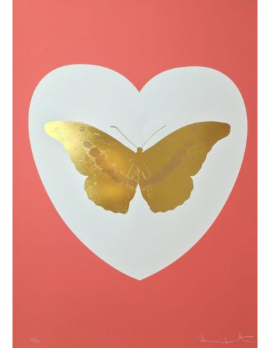 I Love You – White/Coral/Oriental Gold/Cool Gold by Damien Hirst at Damien Hirst