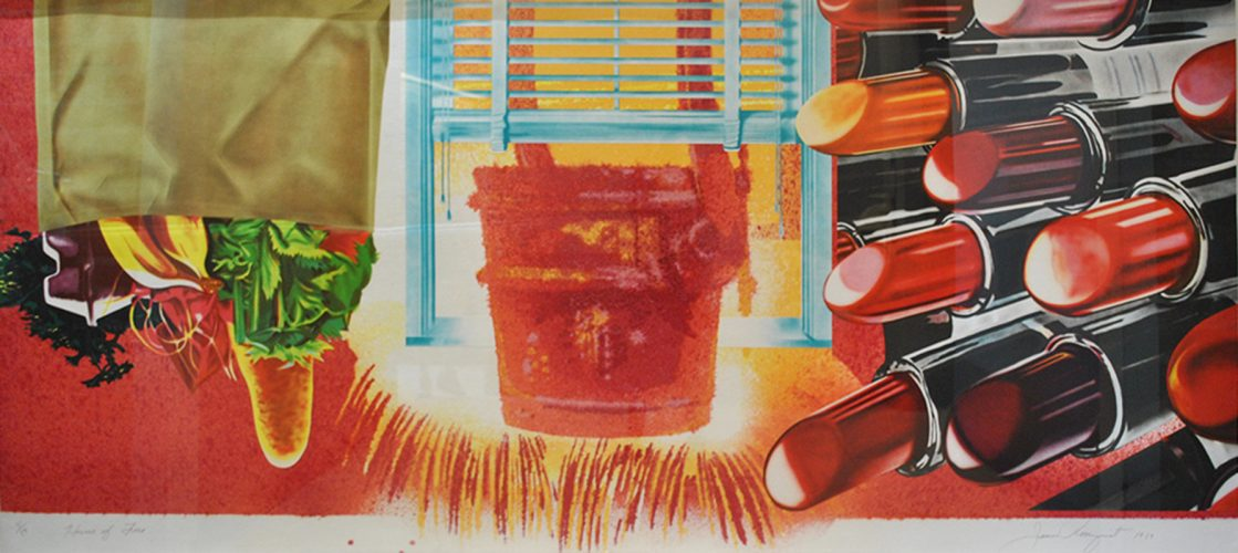 House of Fire (from Welcome to the Water Planet and House of Fire series) by James Rosenquist at