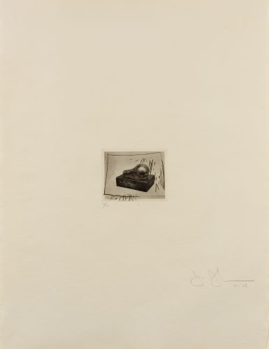 Light Bulb (Small), 1st Etchings, 2nd State by Jasper Johns