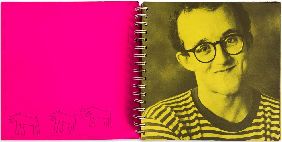 Drawing of Three Dogs, One Barking by Keith Haring at