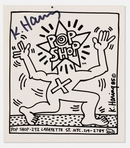 Pop Shop, Black and White Sticker by Keith Haring