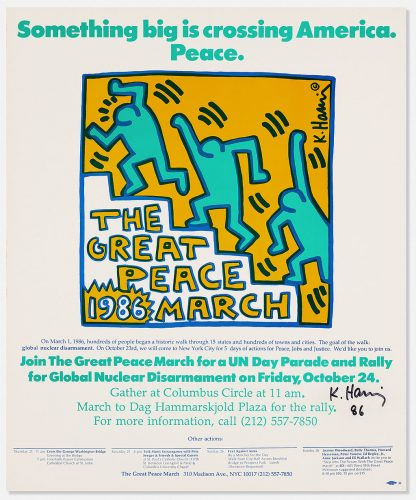 The Great Peace March Print by Keith Haring