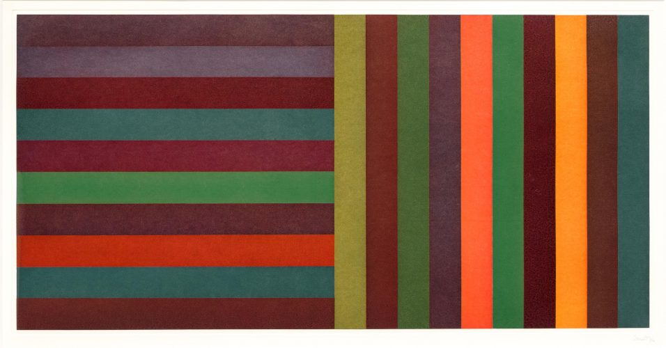 Horizontal Color Bands and Vertical Color Bands II by Sol LeWitt at Leslie Sacks Gallery (IFPDA)