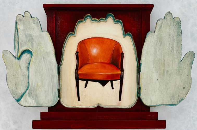 Untitled (Chair with Hand Doors) by Lawrence Valenza at
