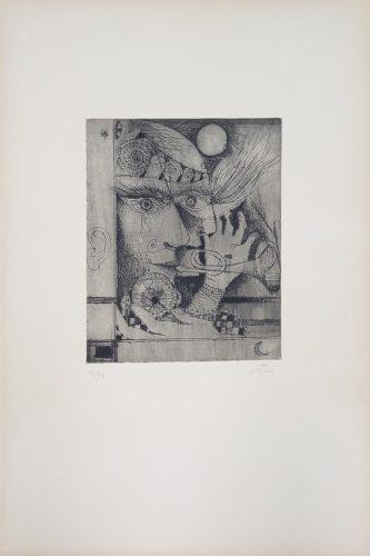 'Les Banyes del So' ('Nou Variacions sobre Tres Gravats de 1947-1948') by Antoni Tapies at