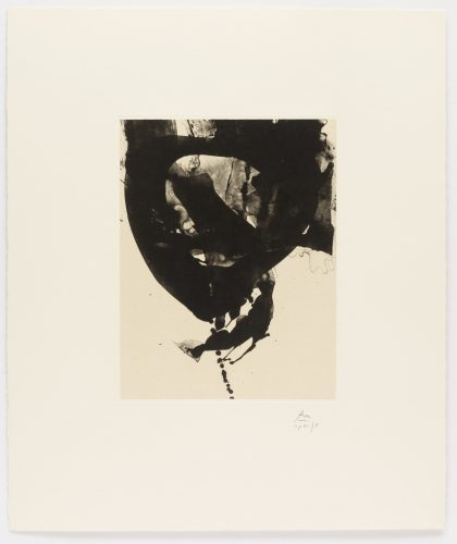 Nocturne VIII, from Three Poems by Octavio Paz by Robert Motherwell