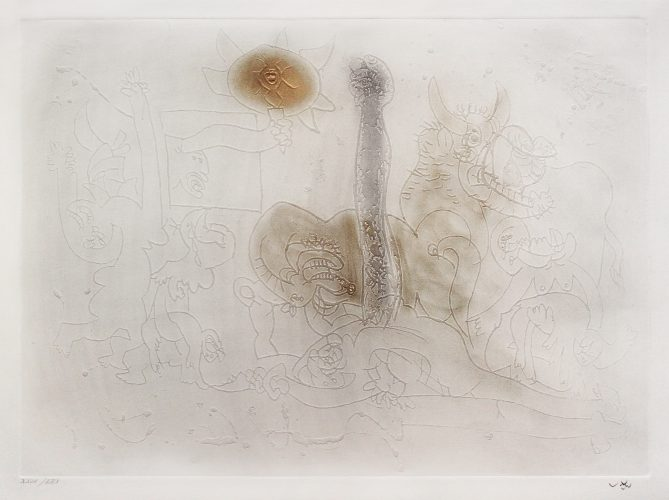 Le Poing du Jour (The Fist of the Day) by Roberto Matta at