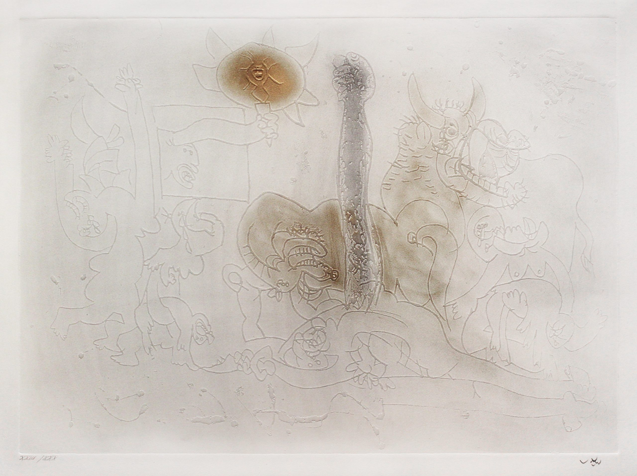 Le Poing du Jour (The Fist of the Day) by Roberto Matta