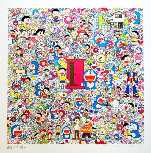 A Sketch of Anywhere Door (Dokodemo Door) and an Excellent Day by Takashi Murakami