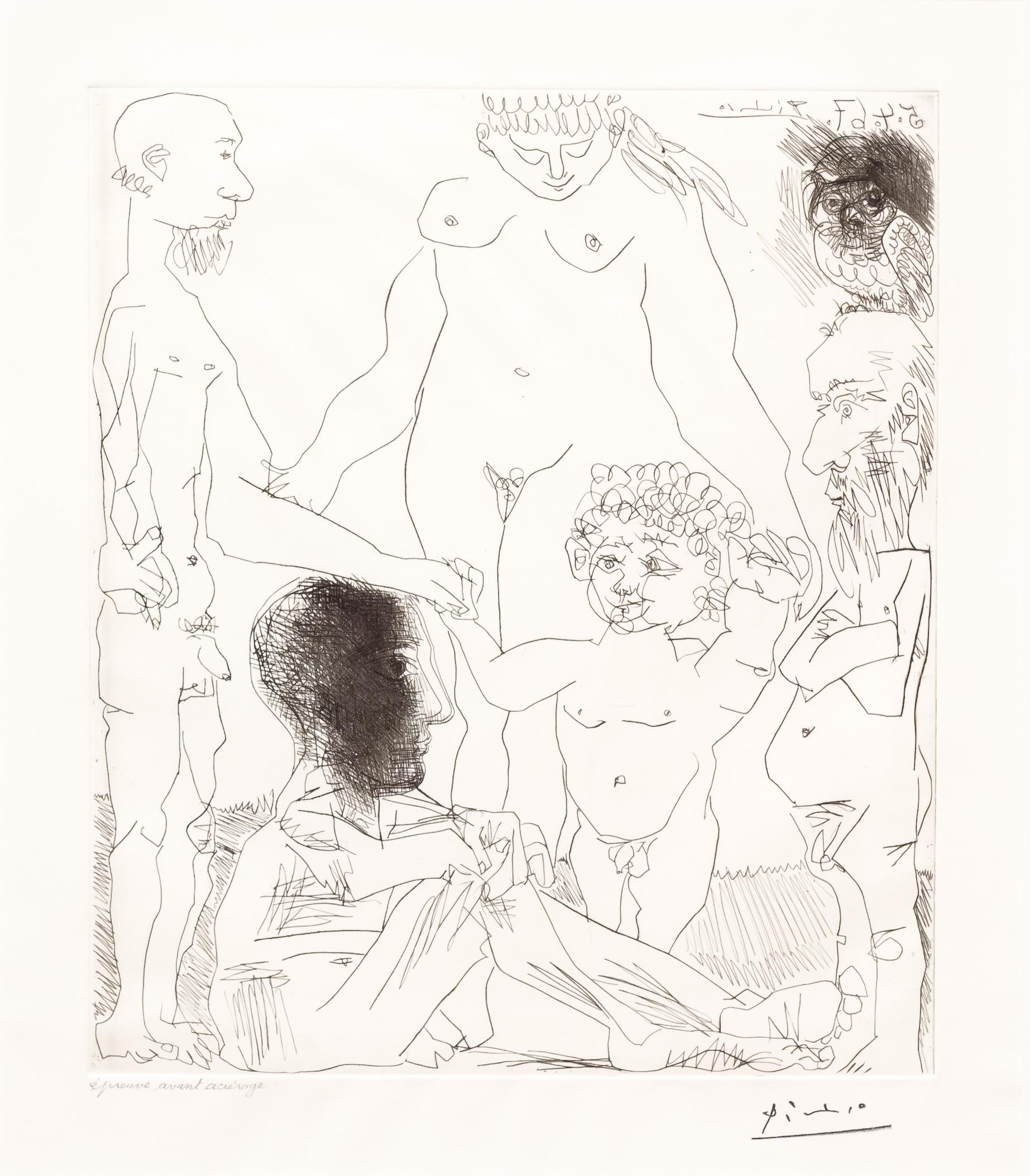 Reflexion du Peintre sur la Vie, from the 60 Series by Pablo Picasso