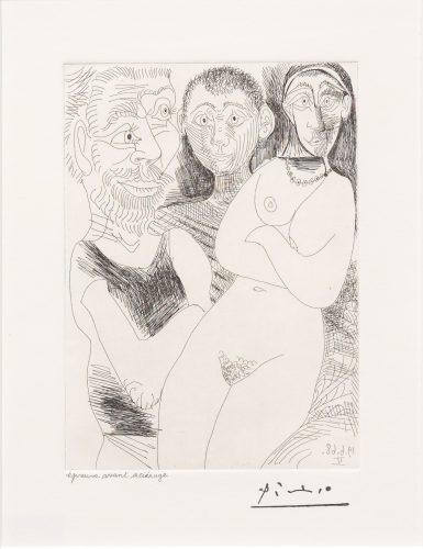 Prostitutee et Marins, from the 347 Series by Pablo Picasso at Leslie Sacks Gallery (IFPDA)