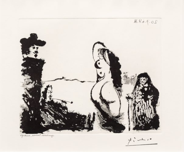 Un Dejeuner sur l'Herbe Rembranesque…, from the 347 Series by Pablo Picasso
