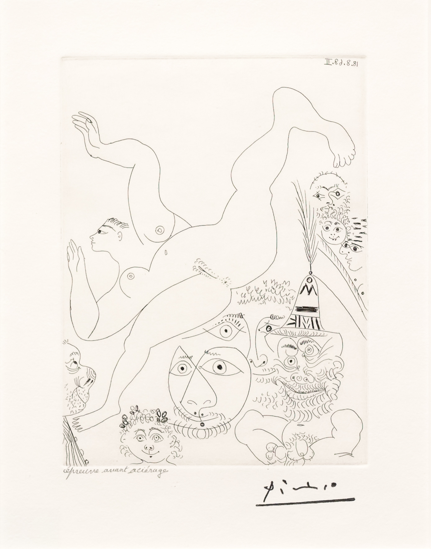 Television: Gymnastique au Sol…, from the 347 Series by Pablo Picasso