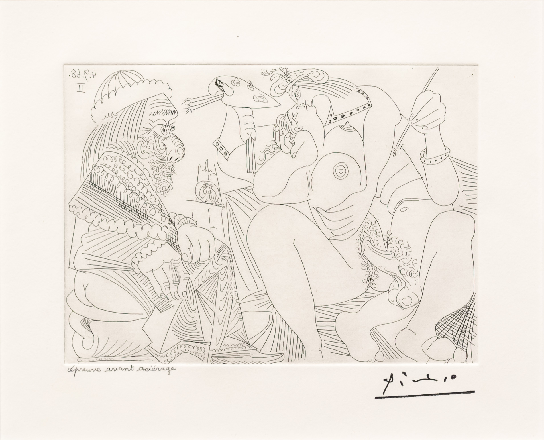 Raphael et la Fornarina XVI…, from the 347 Series by Pablo Picasso