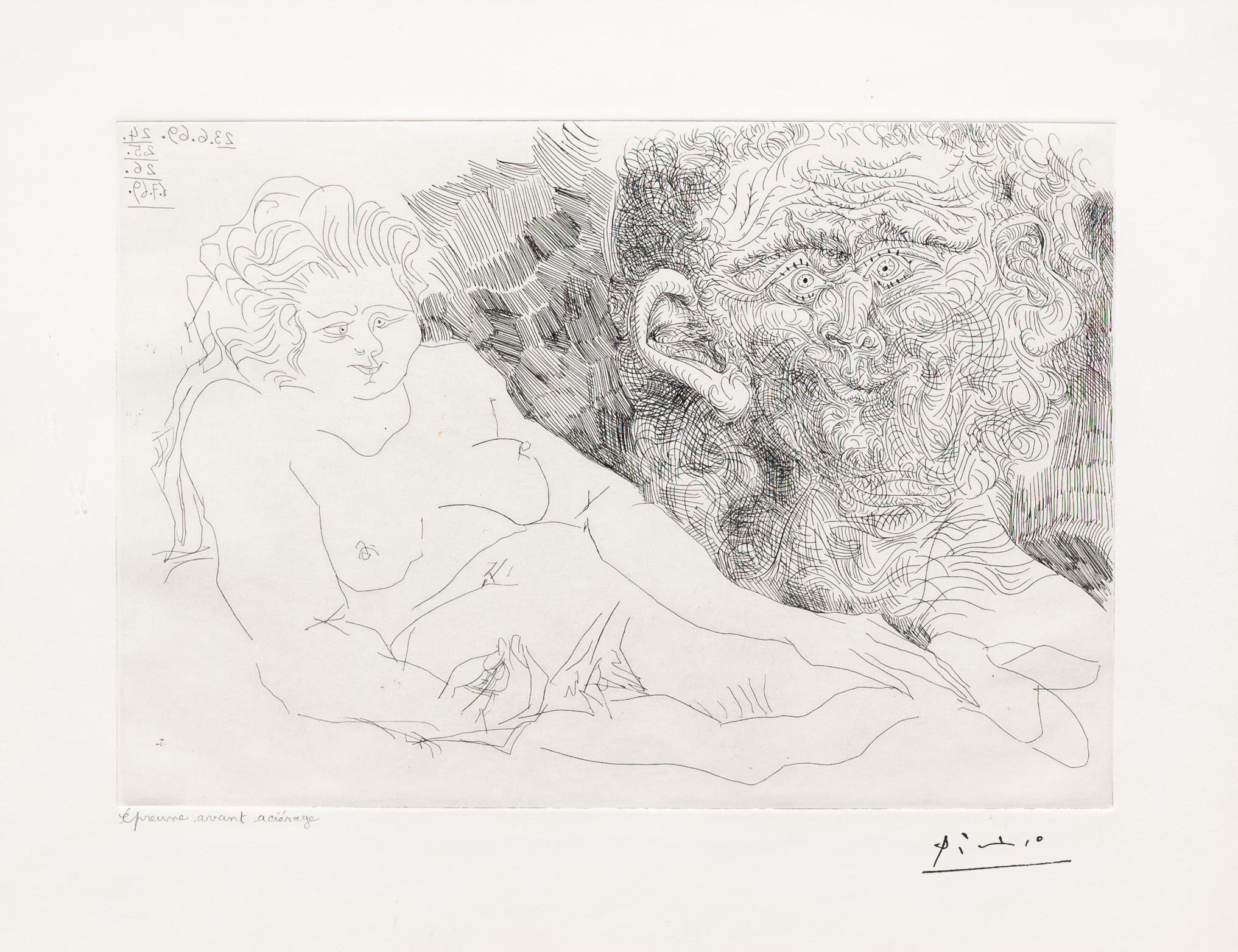 Vieux Peintre et Vieux Modele, from the 156 Series by Pablo Picasso