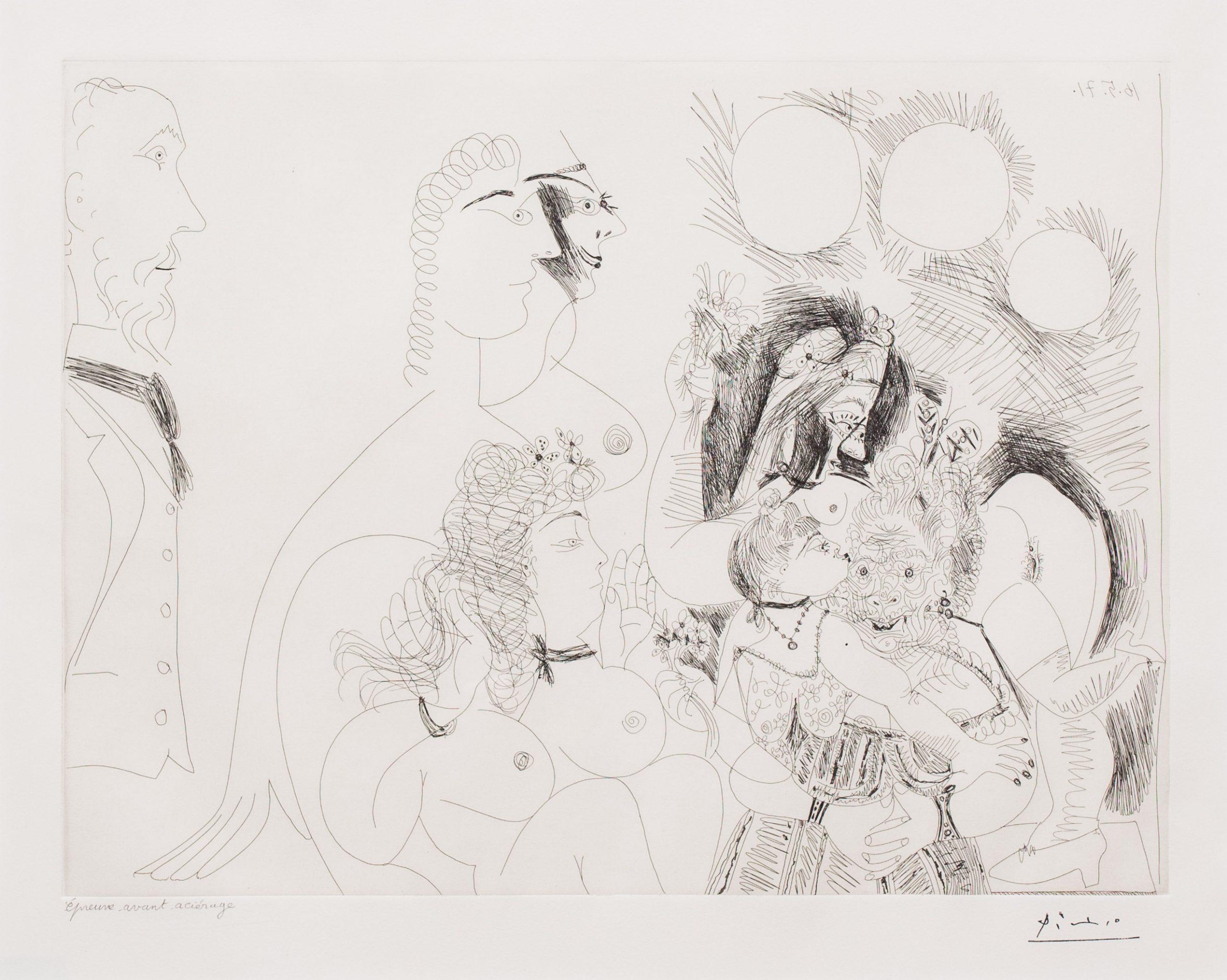 La Fete de la Patronne…, from the 156 Series by Pablo Picasso