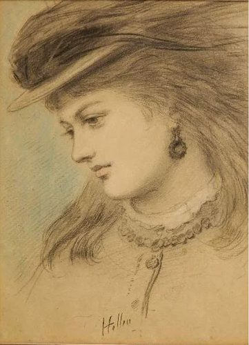 Portrait of a Young Woman by Paul Cesar Helleu at