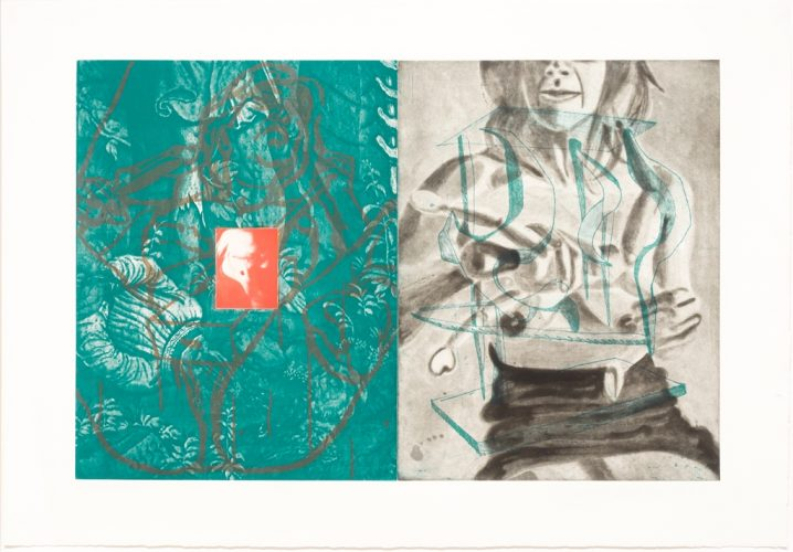 Canfield Hatfield, Plate 7 by David Salle at Leslie Sacks Gallery (IFPDA)