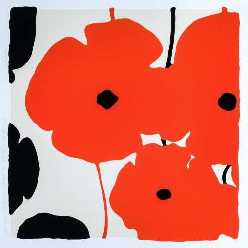 Red Poppies by Donald Sultan at Donald Sultan
