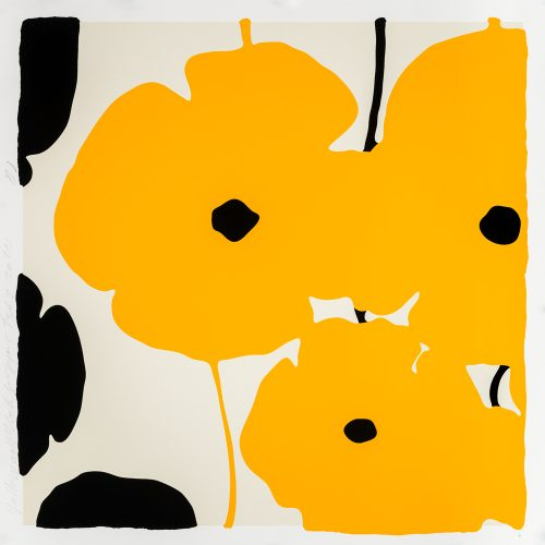 Yellow Poppies by Donald Sultan