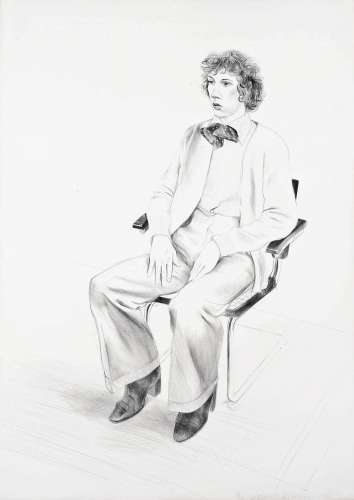 Gregory Evans by David Hockney at