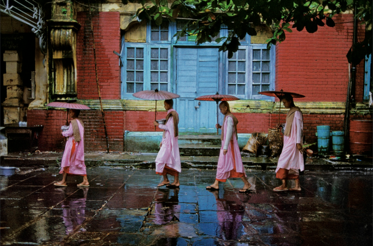 Procession Of Nuns Rangoon, Burma 1994 by Steve McCurry at Galerie Prints