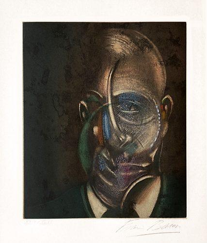 Portrait de Michel Leiris by Francis Bacon